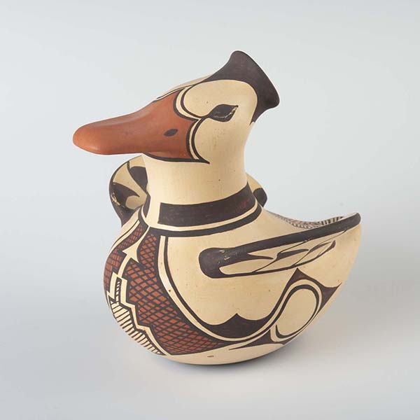 Ceramic duck figurine