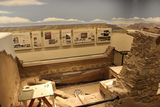 Archaeology excavation display