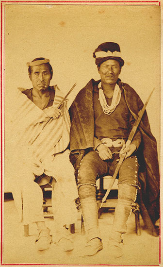 Picture of Chief Manuelito and unidentified Diné man