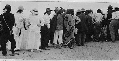 Image of people standing in line
