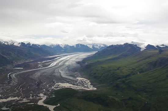 The Nabesna Glacier at Wrangell-St. Elias National Park and Preserve