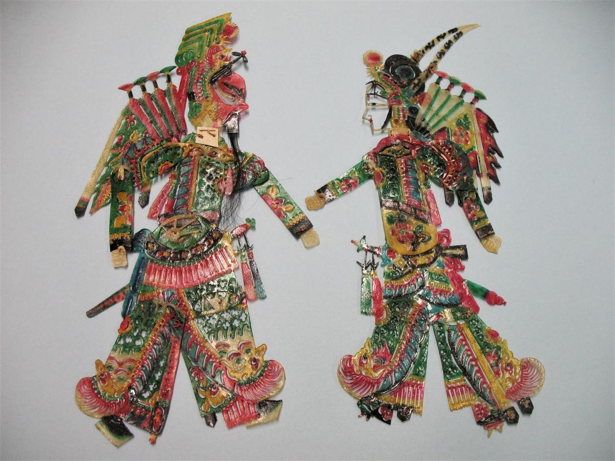 authentic Chinese shadow puppets