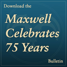 Download the Maxwell celebrates 75 Years bulletin