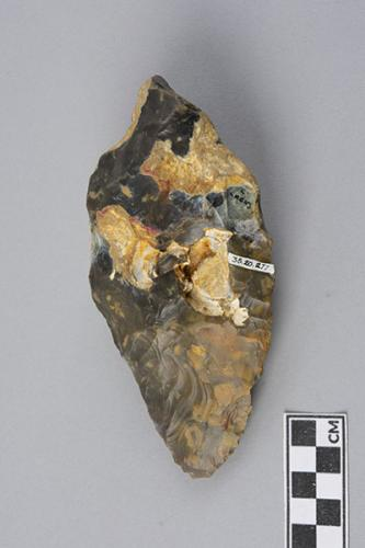 Handaxe, flint Collection of Paleolithic tools from Northern France: