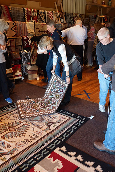 Navajo rug Viewing at the Prairie Star