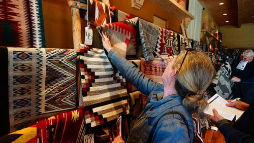 Rugs at the 10th Navajo Rug Auction