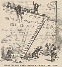 """Throwing Down the Ladder by Which They Rose,"" by Thomas Nast, 1870"