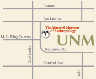 Map to the Maxwell Museum, click to view Google maps