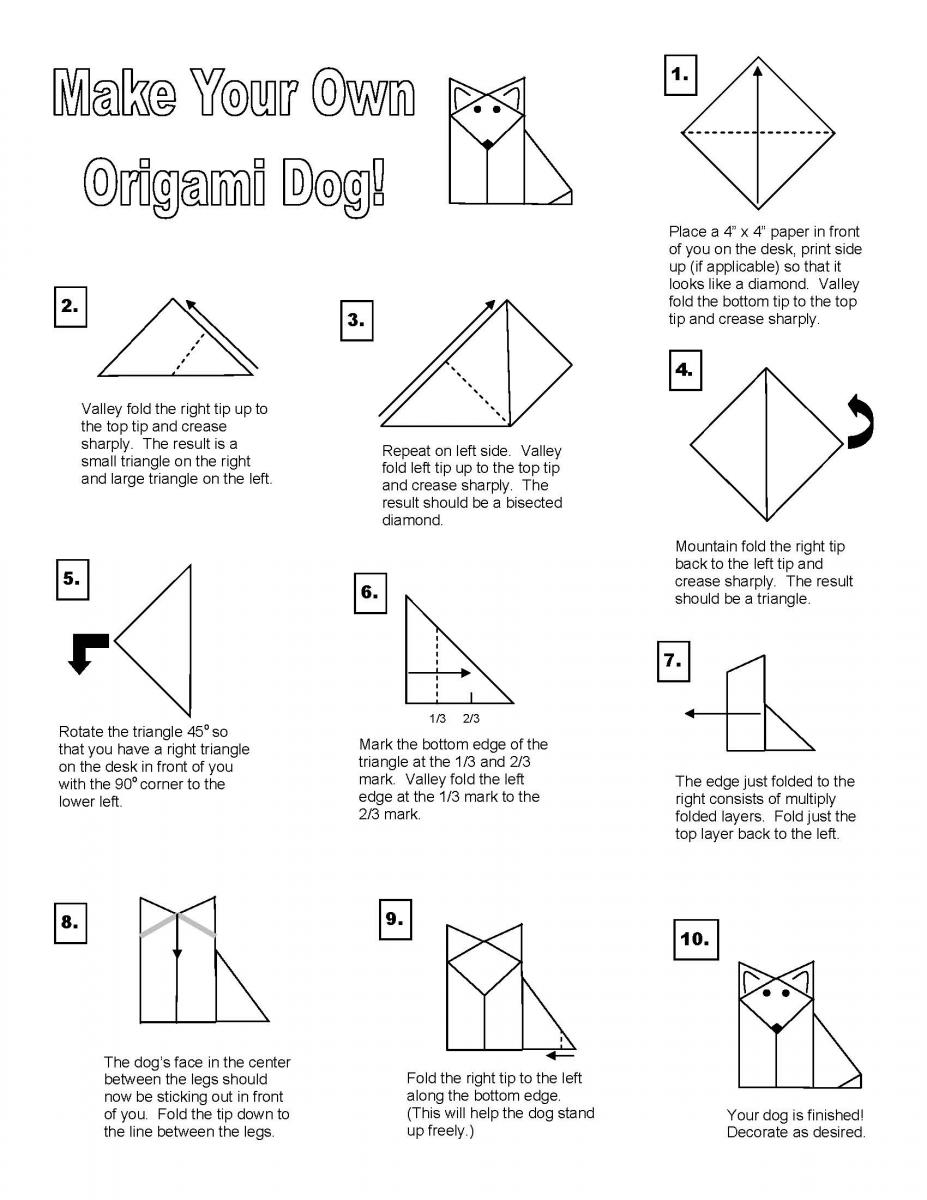 origami dog instructions
