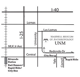 Map to Maxwell Museum
