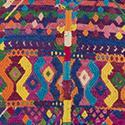 Caption: Brocade diamond motif on a two-paneled, handwoven cotton huipil, Churrancho, Guatemala. Holzapfel Collection 2001.337.6