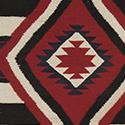 Phase III style Chief's blanket. Annie Wauneka (1910-1997); purchased by Gilbert Maxwell 1947. (Gilbert and Dorothy Maxwell Collection, MMA 63.34.128)