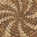 Coiled basket. Mescalero Apache, Artist unknown. (Otero donation, transferred from UNM Library MMA 64.42.53)