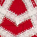 Red velvet appliqued and embroidered apron, San Juan Nuevo (MMA 81.22.135)